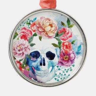 Wellcoda Flower Dead Bed Skull Grave Yard Metal Ornament