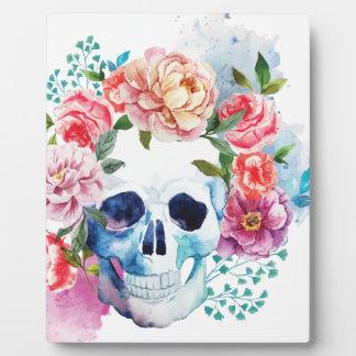 Wellcoda Flower Dead Bed Skull Grave Yard Plaque