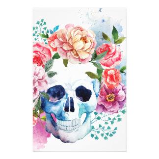 Wellcoda Flower Dead Bed Skull Grave Yard Stationery
