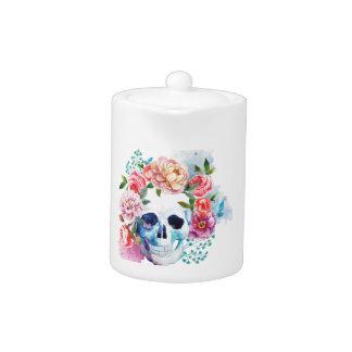 Wellcoda Flower Dead Bed Skull Grave Yard Teapot