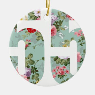 Wellcoda Flower Power 55 Swag Wild Plant Ceramic Ornament