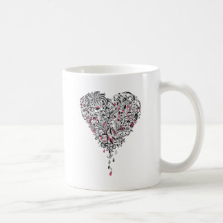 Wellcoda Flower Power Heart Petal Rose Fun Coffee Mug