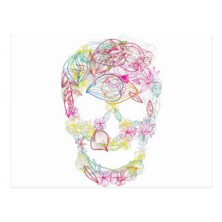 Wellcoda Flower Skull Scary Burial Ground Postcard