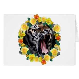 Wellcoda Flower Tiger Wild Cat Nature Law Card