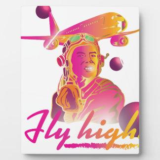 Wellcoda Fly High 80's Style Pilot Plane Plaque