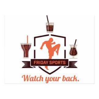 Wellcoda Friday Sport Drink Shot Glass Postcard