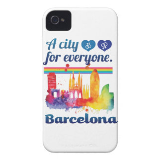 Wellcoda Friendly Barcelona Spain City iPhone 4 Case-Mate Cases