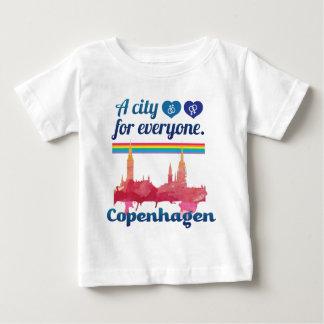 Wellcoda Friendly Copenhagen Denmark City Infant T-shirt