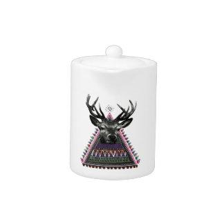 Wellcoda Fun Stag Diamond Deer Crazy Life Teapot