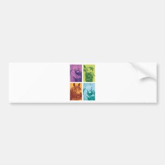 Wellcoda Funny Animal Laugh Crazy Horse Bumper Sticker
