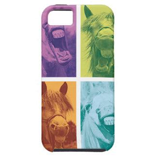 Wellcoda Funny Animal Laugh Crazy Horse iPhone SE/5/5s Case