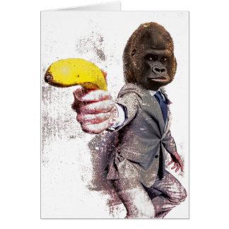 Wellcoda Funny Gorilla Suit Monkey Banana Card