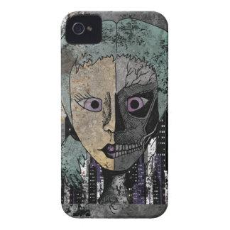 Wellcoda Girl Face Skeleton Half Head iPhone 4 Cover