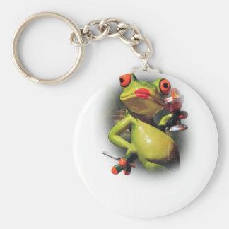 Wellcoda Glamour Frog Smoke Funny Animal Keychain