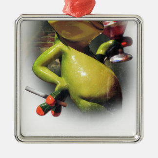Wellcoda Glamour Frog Smoke Funny Animal Metal Ornament