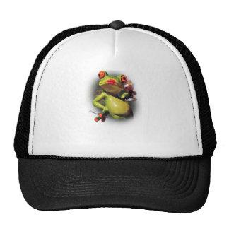 Wellcoda Glamour Frog Smoke Funny Animal Trucker Hat