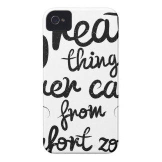 Wellcoda Good Things Never Came From Comfort Zones iPhone 4 Case