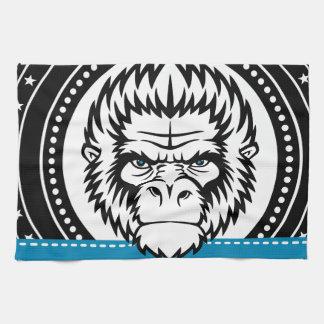 Wellcoda Gorilla Monkey Face Wild Funny Towels