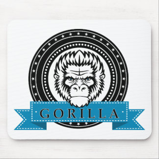 Wellcoda Gorilla Monkey Face Wild Funny Mouse Pad