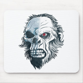 Wellcoda Gorilla Skull Head Monkey Face Mouse Pad