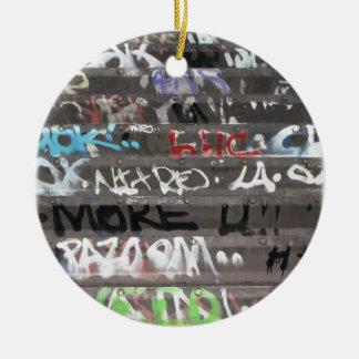 Wellcoda Graffiti Vandal Print Urban Life Ceramic Ornament
