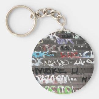 Wellcoda Graffiti Vandal Print Urban Life Keychain