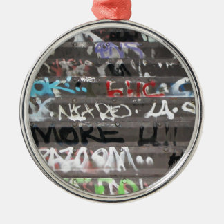Wellcoda Graffiti Vandal Print Urban Life Metal Ornament