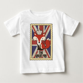 Wellcoda Great Britain Fox Crown UK Royal Baby T-Shirt