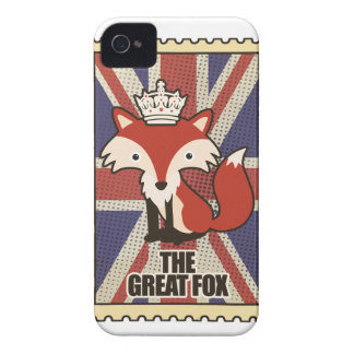Wellcoda Great Britain Fox Crown UK Royal iPhone 4 Cover