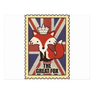 Wellcoda Great Britain Fox Crown UK Royal Postcard