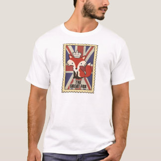 Wellcoda Great Britain Fox Crown UK Royal T-Shirt