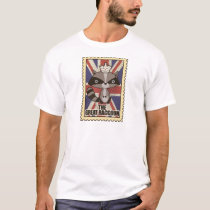 Wellcoda Great Britain Raccoon GB Animal T-Shirt