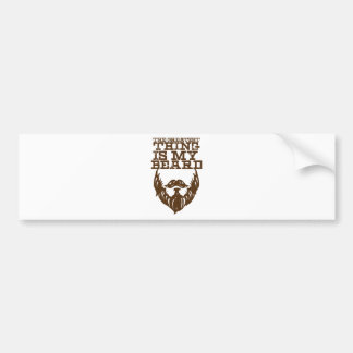 Wellcoda Greatest Beard Man Hipster Swag Bumper Sticker