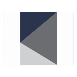 Wellcoda Grey Triangle Shape Three Tier Postcard