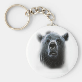 Wellcoda Grizzly Bear Confused Funny Face Keychain
