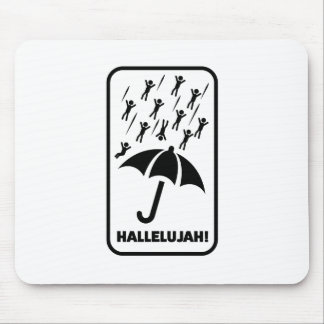 Wellcoda Hallelujah Rain Fall Men Drop Mouse Pad