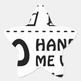 Wellcoda Handle Me With Care 100% Pure Fun Star Sticker