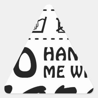 Wellcoda Handle Me With Care 100% Pure Fun Triangle Sticker
