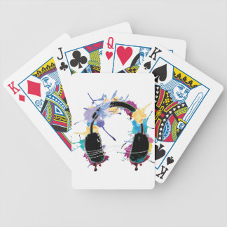Wellcoda Headphone Music Dj Clubbing Beat Bicycle Playing Cards