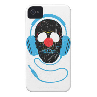 Wellcoda Headphone Skull Face Clown Nose iPhone 4 Cover