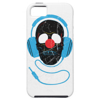 Wellcoda Headphone Skull Face Clown Nose iPhone SE/5/5s Case