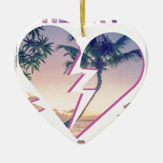 Wellcoda Heart Breaker Holiday Romantic Ceramic Ornament