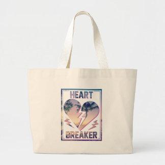 Wellcoda Heart Breaker Holiday Romantic Large Tote Bag