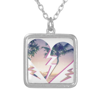 Wellcoda Heart Breaker Holiday Romantic Silver Plated Necklace