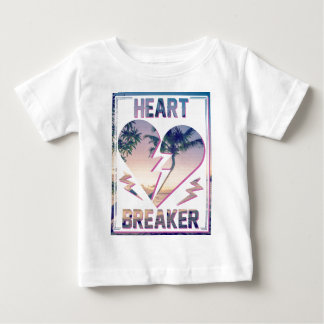 Wellcoda Heart Breaker Lover Palm Tree Baby T-Shirt