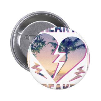 Wellcoda Heart Breaker Lover Palm Tree Button