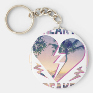 Wellcoda Heart Breaker Lover Palm Tree Keychain