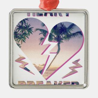 Wellcoda Heart Breaker Lover Palm Tree Metal Ornament