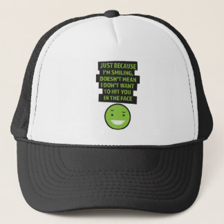 Wellcoda Hit You In The Face Violent Fun Trucker Hat