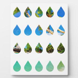 Wellcoda Holiday Rain Drops Vacation Tears Plaque